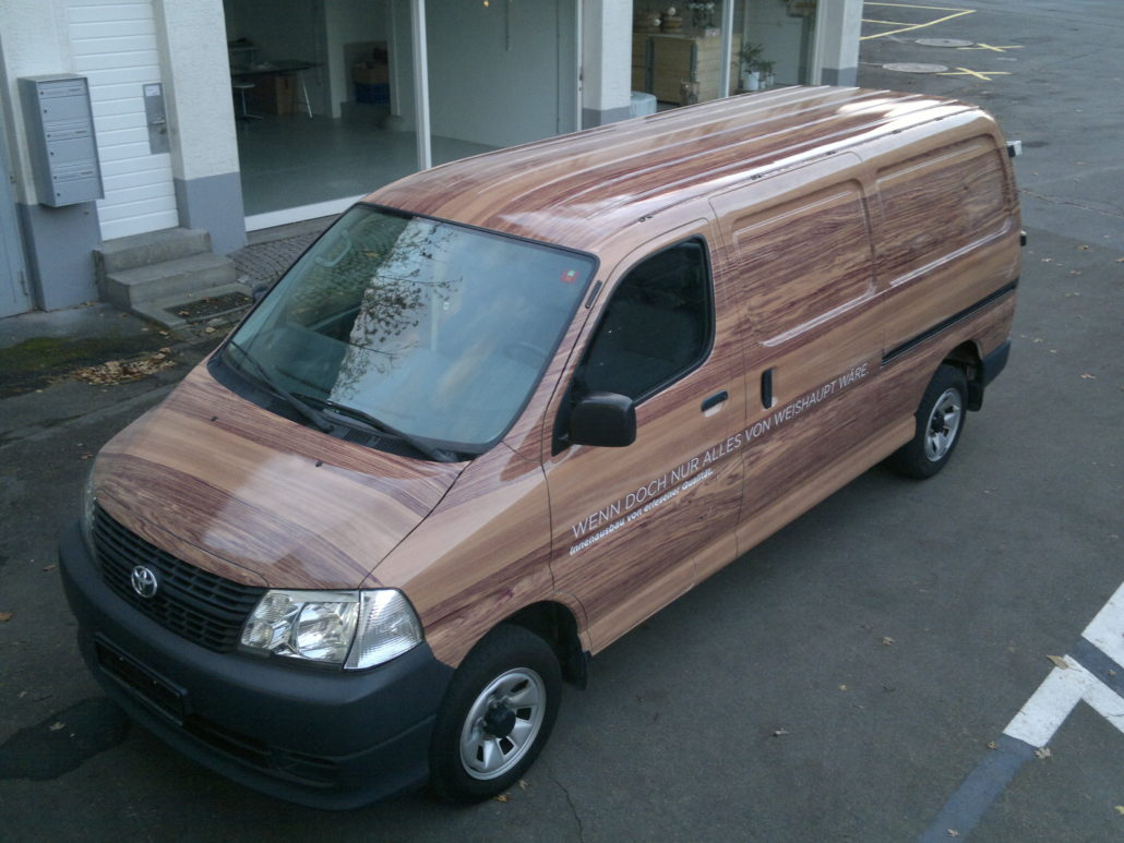 Car Wrapping mit bedruckter Folie - Firma Weishaupt